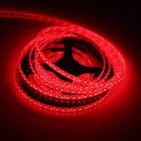 Светодиодная LED лента 5050 R (100) красная, лента для подсветки smd 5050, светодиодная лента красная