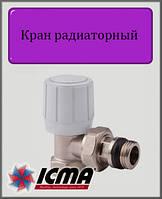 """Ручной вентиль простой регулировки ICMA 1/2"""" угловой"""