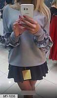 Кофточка женская с воланами на рукавах в расцветках