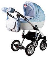 Детская коляска 2 в 1 Adamex Erika кожа 50%