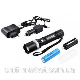 Ультрафиолетовый фонарь 12V 8626-UV 365 nm, ultra strong, акк. 18650