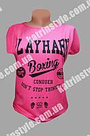 Яркая женская футболка с надписью