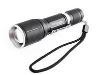 Яркий тактический фонарь с зумом Police BL-1860-Т6 158000W