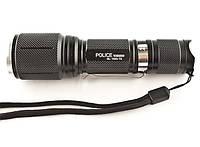 Яркий тактический фонарь с зумом Police BL-1860-Т6 158000W, В наличии