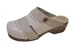 Обувь анатомическая -Сабо женские анатомические (белый, бежевый, черный), фото 3