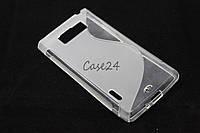 Чехол накладка бампер для LG Optimus L7 P700 P705 матовый/прозрачный, фото 1