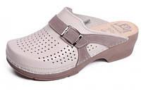Обувь анатомическая -Сабо женские анатомические (бежевый, т. синий)
