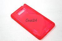 Чехол накладка бампер для LG Optimus L7 P700 P705 розовый