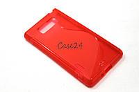 Чехол накладка бампер для LG Optimus L7 P700 P705 красный, фото 1