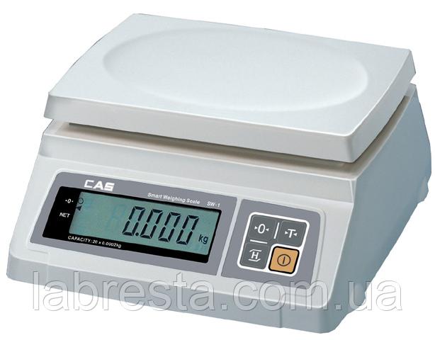Весы настольные CAS SW-5 простого взвешивания, платформа пластик
