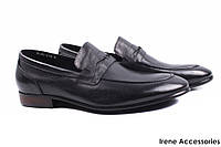 Туфли модельные мужские Roberto Paulo натуральная кожа, цвет черный (мокасины, каблук)