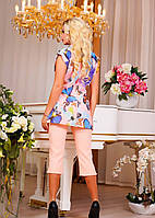 Блуза Бабочки, цвет персик