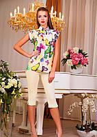 Блуза Бабочки желтая