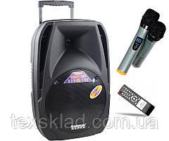 Колонка на аккумуляторе A18S с двумя микрофонами, FM-радио, Bluetoth