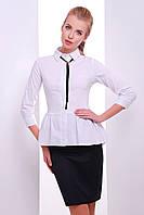 Классическая блуза с длинным рукавом низ баска