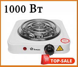 Электроплитка настольная Domotec 1000 Ватт (1 кВт) для кухни, дачи, дома