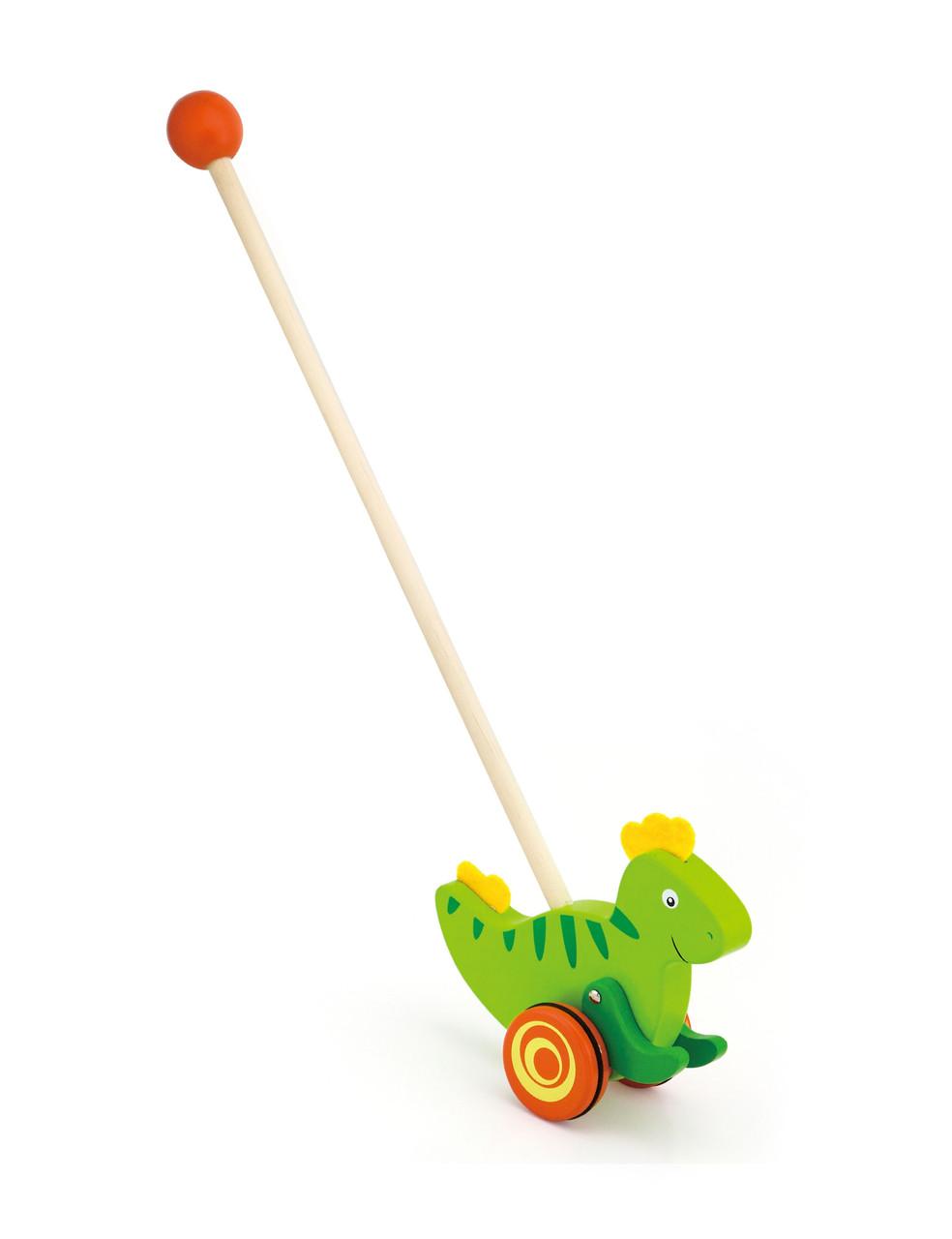 Розвиваючі і повчальні іграшки «Viga Toys» (50963) каталка Динозавр