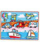 Развивающие и обучающие игрушки «Viga Toys» (56436) рамка-вкладыш Транспорт