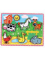 Развивающие и обучающие игрушки «Viga Toys» (56438) рамка-вкладыш Домашние животные