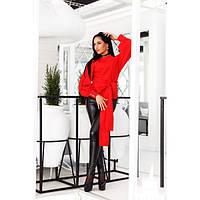 Красивая двухстронняя блуза из коттона с поясом (4 цвета)