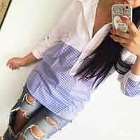 Женская удлиненная рубашка из хлопковой ткани