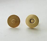 Кнопка магнит 18 мм, золото