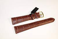 Кожаный ремень Bennett&Murray-ремень из натуральной кожи коричневый под крокодил 20 мм*16