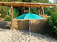 Пляжный зонт с наклоном 1,8 м с серебром бирюза зонтик садовый