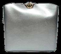 Модная женская сумочка из натуральной кожи серебристого цвета через плечо NNE-042232