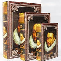 """Книга-шкатулка """"Шекспир"""" на магните набор 3в1 330-6"""