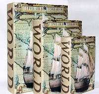 """Книга-шкатулка """"Парусник"""" на магните набор 3в1 330-4"""