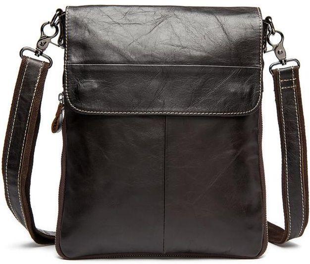 b09dc4971ba7 Мужская удобная кожаная сумка через плечо BEXHILL Bx8008C коричневый ...