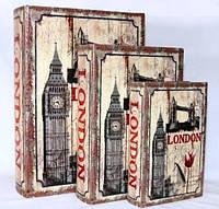 """Книга-шкатулка """"Лондон"""" на магните набор 3в1 330-2"""