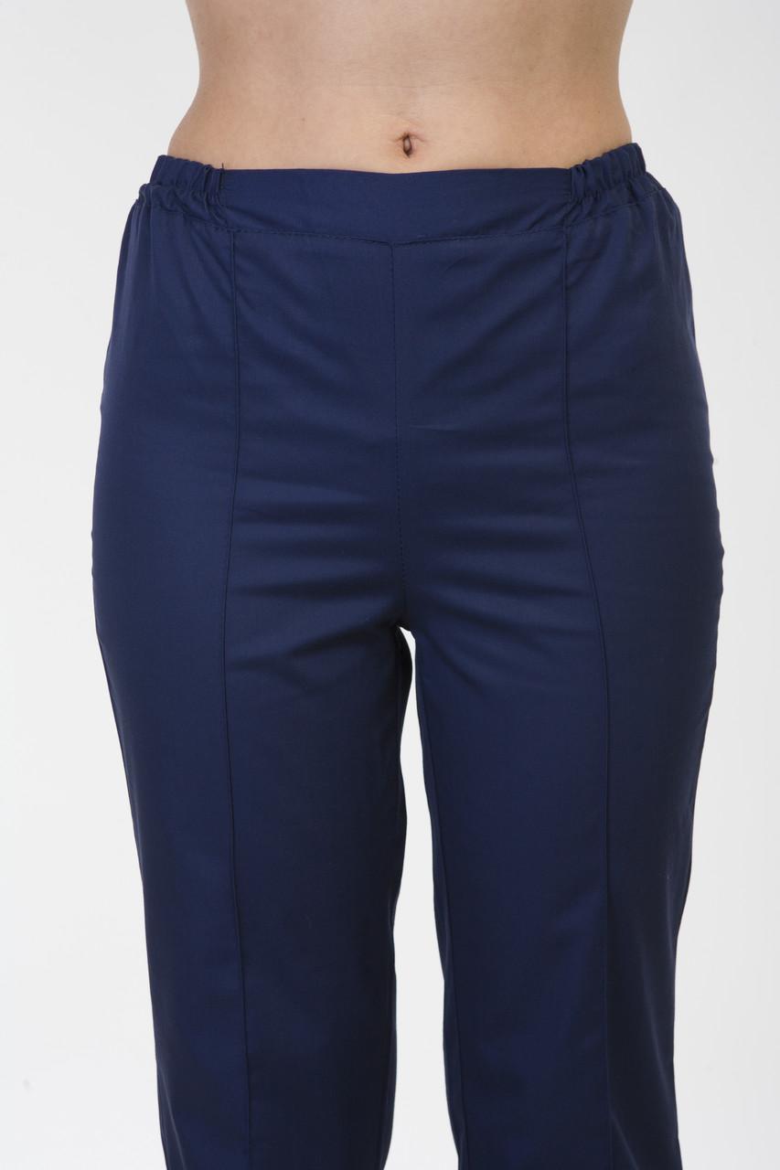 Медицинские брюки 2607 темно-синие (батист)