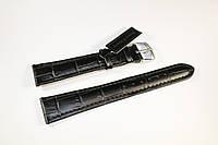 Кожаный ремень Bennett&Murray-ремень из натуральной кожи черный под крокодил 20 мм