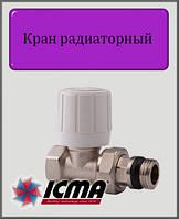 """Ручной вентиль простой регулировки ICMA 1/2"""" прямой"""