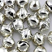 Бубенчики металлические бубенцы (цена за 25шт) 10х8мм  Цвет - СЕРЕБРО