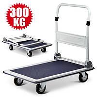 Транспортная тележка платформа 300 кг четырехколесная ручная (платформа грузовая 915 х 605 мм)