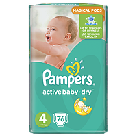 Подгузники Pampers Active Baby-Dry Maxi 4 (7-14 кг) Giant Pack, 76 шт