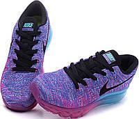 Кроссовки женские Nike Flyknit Air Max Blu/Viola/Rosa