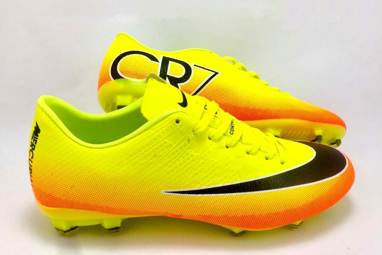 3eebe8e0 Футбольные бутсы Nike Mercurial Victory CR7 FG Volt/Black/Citrus -  Интернет-магазин