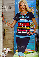 Женский комплект футболка+капри Турция. VOGUE 10101. Размер 44-46.