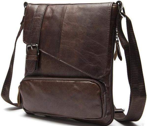 Мужская кожаная сумка BEXHILL Bx8239C коричневый