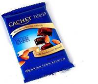 Молочный шоколад Сachet c миндалем , 300 гр, Бельгия (Cachet Milk Chocolate 32% with Almonds)