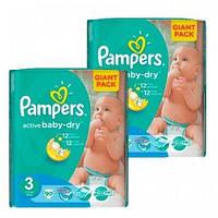 Подгузники Pampers Active Baby-Dry Midi 3 (4-9 кг) Giant Pack, 1х90 шт