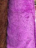 """Покривало-плед  из искусственного меха """"Мишка"""" 220 на 240 Сиреневого цвета ., фото 2"""