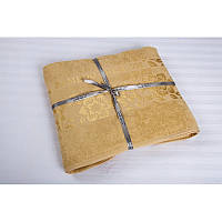 Простыня махровая Cestepe Bamboo Cicek 200*220см голд