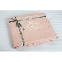 Простыня махровая Cestepe Bamboo Cicek 200*220см розовая