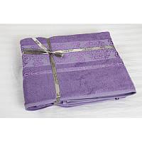 Простыня махровая Cestepe Bamboo Premium 200*220см фиолетовая