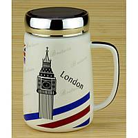Термокружка Travel Cup  London, Paris, Piza, New-York 0.55 л керамика